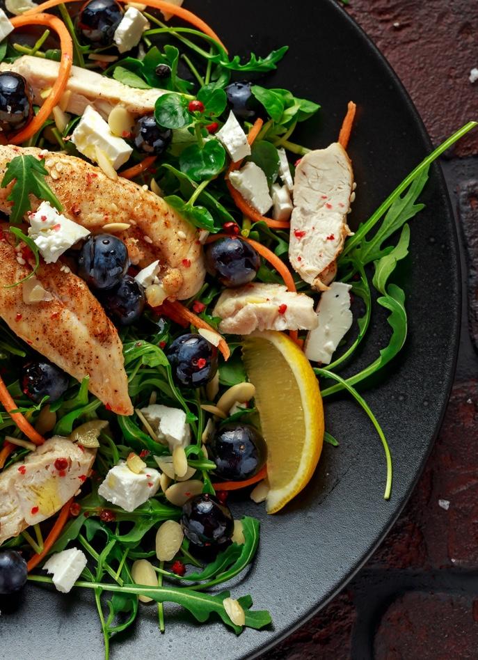 Salada de Frango com Mirtilos 3
